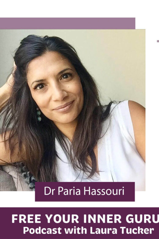 Photo of Dr Paria Hassouri, MD on Free Your Inner Guru Podcast